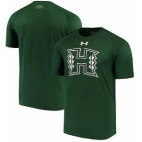 Under Armour アンダー アーマー スポーツ用品  Under Armour Hawaii Warriors Green School Logo Performance T-Shirt