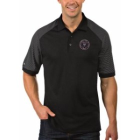 Antigua アンティグア シャツ ポロシャツ Antigua Inter Miami CF Black/White Engage Polo