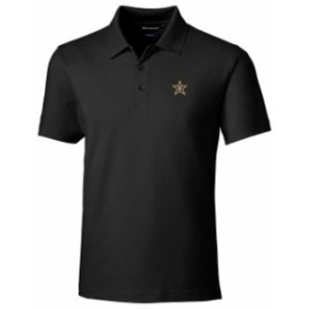 Cutter & Buck カッター アンド バック スポーツ用品  Cutter & Buck Vanderbilt Commodores Black Forge Tailored Fit Polo