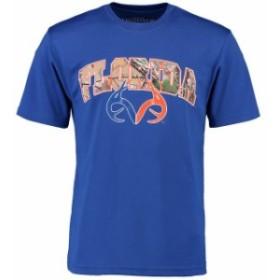 Colosseum コロセウム スポーツ用品  Colosseum Florida Gators Royal Real Tree Logo Dual-Blend T-Shirt