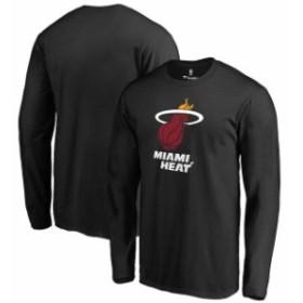 Fanatics Branded ファナティクス ブランド スポーツ用品  Fanatics Branded Miami Heat Black Primary Logo Long Sleeve T-Shirt