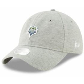 New Era ニュー エラ スポーツ用品  New Era Seattle Sounders FC Womens Gray Preppy Team 9TWENTY Adjustable Hat