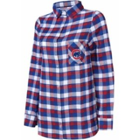 Concepts Sport コンセプト スポーツ スポーツ用品  Concepts Sport Chicago Cubs Womens Royal/Red Plus Size Piedmont Flannel Nightsh