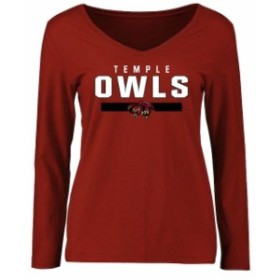 Fanatics Branded ファナティクス ブランド スポーツ用品  Temple Owls Womens Cardinal Team Strong Long Sleeve T-Shirt