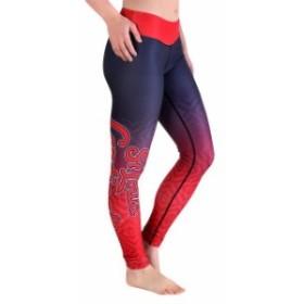 Klew クルー スポーツ用品  St. Louis Cardinals Womens Navy Blue/Red Big Logo Gradient Print Leggings