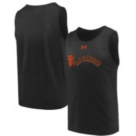 Under Armour アンダー アーマー 服 タンクトップ Under Armour San Francisco Giants Black Dual Logo Performance Tri-Blend Tank Top