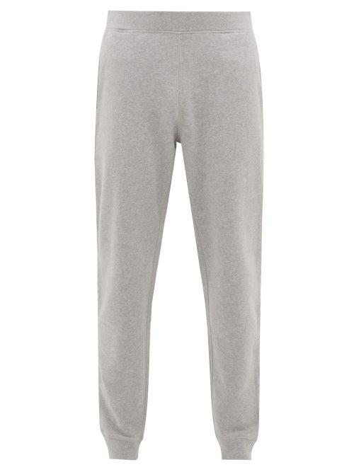 Sunspel - Cotton Track Pants - Mens - Grey