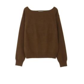 【公式/NATURAL BEAUTY BASIC】ウインターカラーベーシックニット/女性/ニットトップ/ブラウン/サイズ:M/ナイロン 56% レーヨン 30% アンゴラ 11% 羊毛 3%