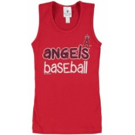 Soft as a Grape ソフト アズ ア グレープ スポーツ用品  Soft as a Grape Los Angeles Angels Girls Youth Red Curveball Tank Top