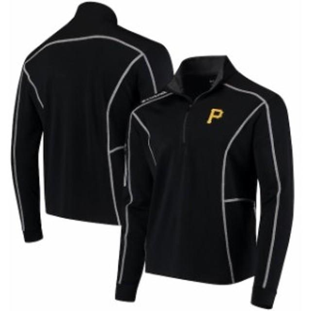 Columbia コロンビア アウターウェア ジャケット/アウター Columbia Pittsburgh Pirates Black Shotgun Quarter-Zip Pullover Jacket