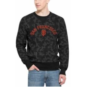 47 フォーティーセブン 服 スウェット 47 Brand San Francisco Giants Black Stealth Camo Crew Sweatshirt