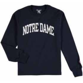 Champion チャンピオン スポーツ用品  Champion Notre Dame Fighting Irish Youth Navy Basic Arch Long Sleeve T-Shirt