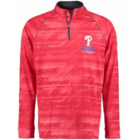 Under Armour アンダー アーマー スポーツ用品  Under Armour Philadelphia Phillies Red Tech Novelty Quarter-Zip Performance Pullove