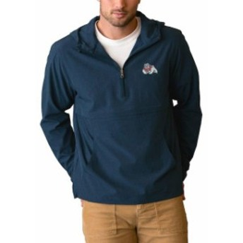 Vantage Apparel バンテージ アパレル スポーツ用品  Fresno State Bulldogs Navy Stretch Anorak Quarter-Zip Pullover Jacket