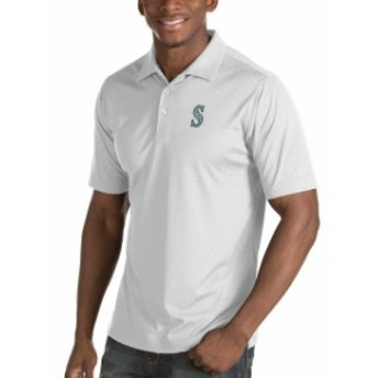 Antigua アンティグア シャツ ポロシャツ Antigua Seattle Mariners White Inspire Desert Dry Polo