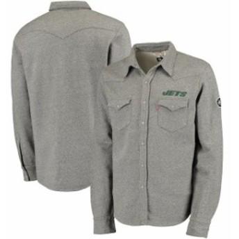 Levis リーバイス アウターウェア ジャケット/アウター Levis New York Jets Gray Western Button-Up Jacket