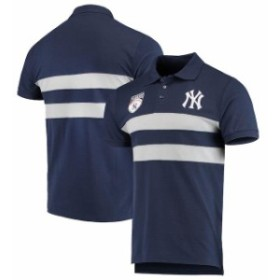 Forever Collectibles フォーエバー コレクティブル スポーツ用品  New York Yankees Navy Horizontal 2-Stripe Polo