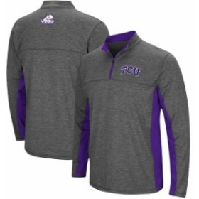 Colosseum コロセウム スポーツ用品  Colosseum TCU Horned Frogs Heathered Charcoal Milton Windshirt Quarter-Zip Pullover Jacket