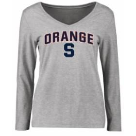 Fanatics Branded ファナティクス ブランド スポーツ用品  Syracuse Orange Womens Ash Proud Mascot Long Sleeve T-Shirt