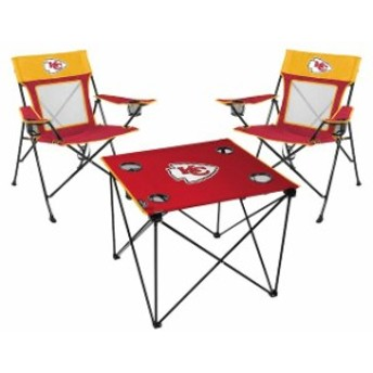 Rawlings ローリングス スポーツ用品  Rawlings Kansas City Chiefs Deluxe 3-Piece Tailgate Chair & Table Kit
