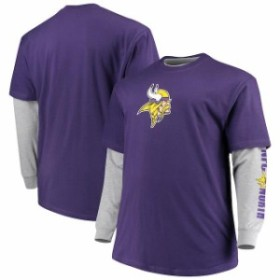 Majestic マジェスティック スポーツ用品  Majestic Minnesota Vikings Purple/Heathered Gray Big & Tall T-Shirt Combo Set