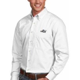 Antigua アンティグア スポーツ用品  Antigua Utah Jazz White Dynasty Button-Down Long Sleeve Shirt
