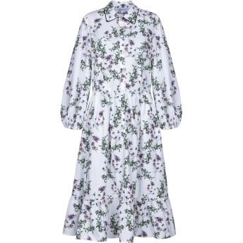 《セール開催中》BLUMARINE レディース 7分丈ワンピース・ドレス ホワイト 42 コットン 100%