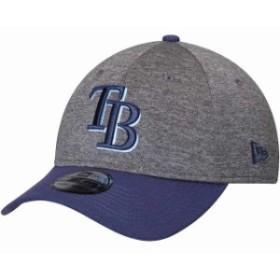 New Era ニュー エラ スポーツ用品  New Era Tampa Bay Rays Adult Heathered Gray/Navy 39THIRTY Shadow Tech Flex Hat