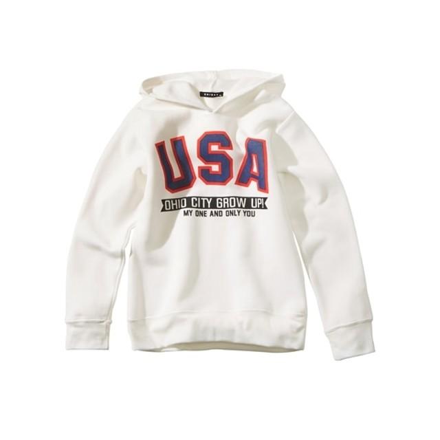 あったか裏起毛プリントパーカー(男の子。女の子 子供服。ジュニア服) (トレーナー・スウェット)Sweatshirts, 衣, 衛衣