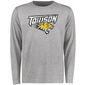 Fanatics Branded ファナティクス ブランド スポーツ用品  Towson Tigers Ash Big & Tall Classic Primary Long Sleeve T-Shirt
