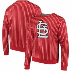 Forever Collectibles フォーエバー コレクティブル 服 スウェット St. Louis Cardinals Red Pinstripe Crew Neck Pullover