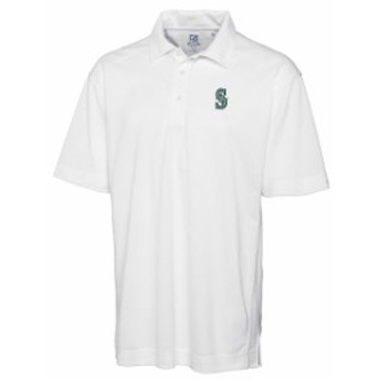 Cutter & Buck カッター アンド バック シャツ ポロシャツ Cutter & Buck Seattle Mariners White Big & Tall DryTec Genre Polo