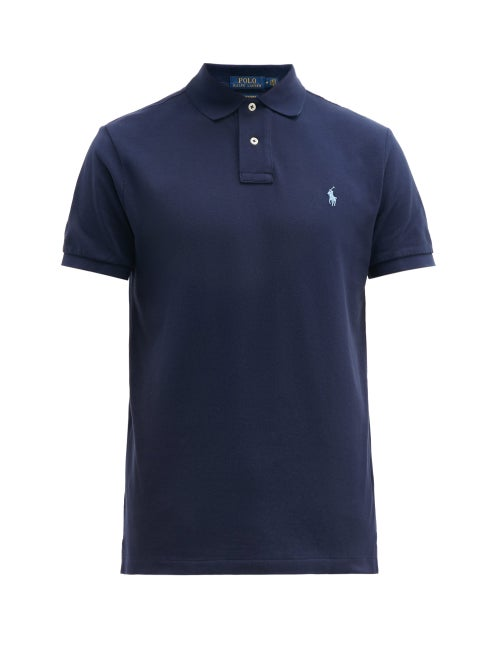 Polo Ralph Lauren - Custom Slim-fit Logo-embroidered Cotton Polo Shirt - Mens - Navy