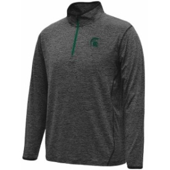Colosseum コロセウム スポーツ用品  Colosseum Michigan State Spartans Heathered Black Action Pass Quarter-Zip Pullover Jacket