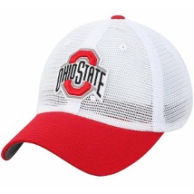 Top of the World トップ オブ ザ ワールド スポーツ用品  Top of the World Ohio State Buckeyes White Mesh Made Snapback Adjustable
