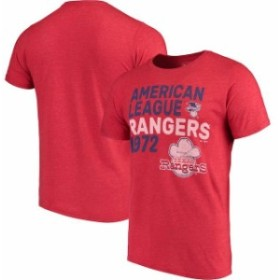 Majestic Threads マジェスティック スレッド スポーツ用品  Majestic Threads Texas Rangers Red Throwback Cooperstown Collection Tri