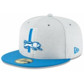 New Era ニュー エラ スポーツ用品  New Era Detroit Lions Heather Gray/Blue 2018 NFL Sideline Home Historic 59FIFTY Fitted Hat