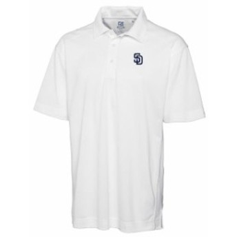 Cutter & Buck カッター アンド バック シャツ ポロシャツ Cutter & Buck San Diego Padres White Big & Tall DryTec Genre Polo