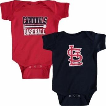 Soft as a Grape ソフト アズ ア グレープ アクセサリー  Soft as a Grape St. Louis Cardinals Newborn & Infant Red/Navy 2-Piece Body