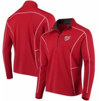 Columbia コロンビア アウターウェア ジャケット/アウター Columbia Washington Nationals Red Shotgun Quarter-Zip Pullover Jacket