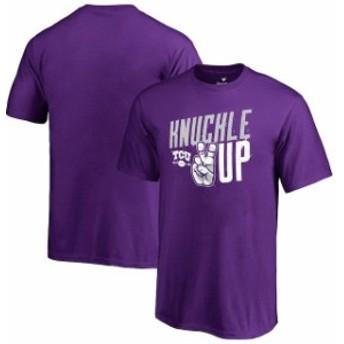 Fanatics Branded ファナティクス ブランド スポーツ用品  Fanatics Branded TCU Horned Frogs Youth Purple Knuckle Up T-Shirt