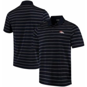 Cutter & Buck カッター アンド バック スポーツ用品  Cutter & Buck Denver Broncos Navy/Orange DryTec Venture Stripe Polo