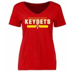 Fanatics Branded ファナティクス ブランド スポーツ用品  Virginia Military Institute Keydets Womens Red Team Strong T-Shirt