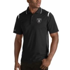 Antigua アンティグア シャツ ポロシャツ Antigua Oakland Raiders Black Merit Polo