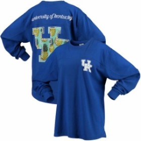Pressbox プレス ボックス スポーツ用品  Kentucky Wildcats Womens Royal Aloha Big Pineapple Long Sleeve T-Shirt