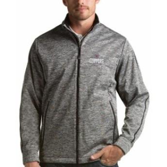 Antigua アンティグア スポーツ用品  Antigua LA Clippers Heather Gray Golf Full-Zip Jacket
