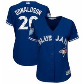 Majestic マジェスティック スポーツ用品  Majestic Josh Donaldson Toronto Blue Jays Womens Royal 2018 Spring Training Cool Base Pl