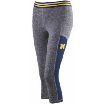 ZooZatz ズーザッツ スポーツ用品  ZooZatz Michigan Wolverines Womens Gray Blitz Mesh Insert Capri Pants