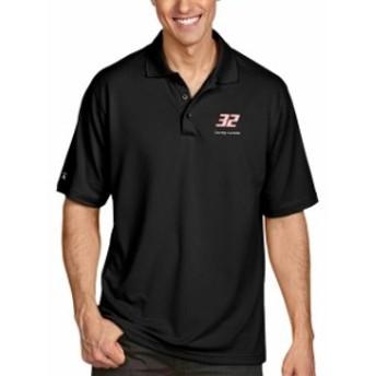 Antigua アンティグア シャツ ポロシャツ Corey LaJoie Antigua Pique Desert Dry Xtra Lite Polo - Black