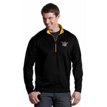Antigua アンティグア アウターウェア ジャケット/アウター Antigua Pittsburgh Pirates Black Leader Quarter-Zip Pullover Jacket